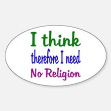 Think For Myself Oval Decal