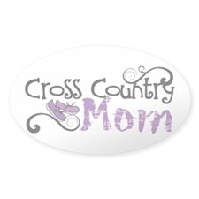 Cross Country Mom Sticker (Oval)