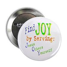 """Find Joy in serving Jesus Oth 2.25"""" Button (10 pac"""