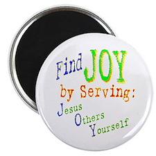 "Find Joy in serving Jesus Oth 2.25"" Magnet (10 pac"