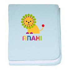 Anahi the Lion baby blanket