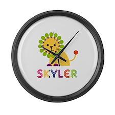 Skyler the Lion Large Wall Clock