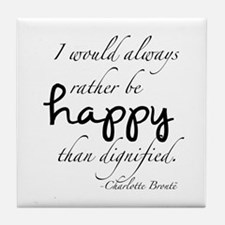 Rather Be Happy Tile Coaster