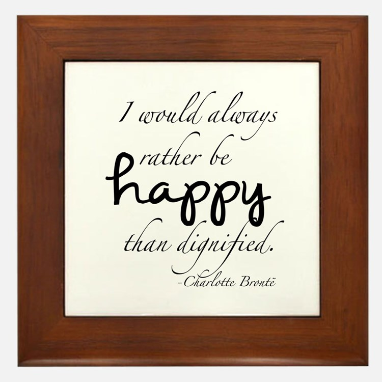 Rather Be Happy Framed Tile