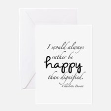 Rather Be Happy Greeting Card