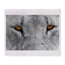 Lion Eyes Throw Blanket