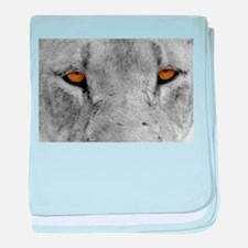 Lion Eyes baby blanket