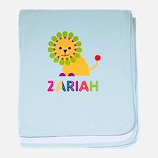 Zariah the Lion baby blanket