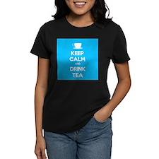 Keep Calm & Drink Tea (Light Blue) Tee