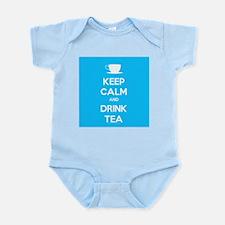 Keep Calm & Drink Tea (Light Blue) Infant Bodysuit