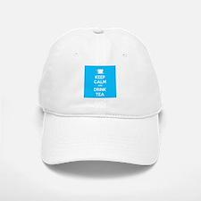 Keep Calm & Drink Tea (Light Blue) Baseball Baseball Cap