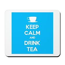 Keep Calm & Drink Tea (Light Blue) Mousepad