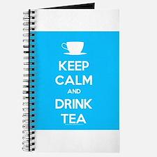 Keep Calm & Drink Tea (Light Blue) Journal