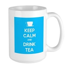 Keep Calm & Drink Tea (Light Blue) Mug