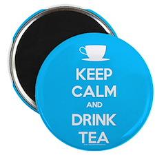 Keep Calm & Drink Tea (Light Blue) Magnet