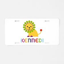 Kennedi the Lion Aluminum License Plate