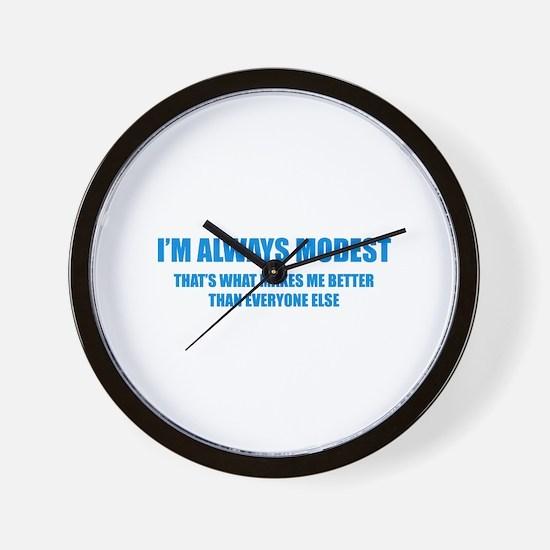 Always Modest Wall Clock