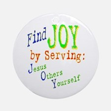 Find Joy in serving Jesus Oth Ornament (Round)