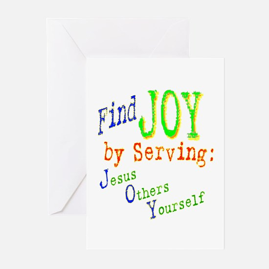 Find Joy in serving Jesus Oth Greeting Cards (Pack