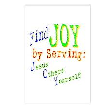 Find Joy in serving Jesus Oth Postcards (Package o