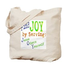 Find Joy in serving Jesus Oth Tote Bag