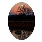 Lion Sands Sunset Ornament (Oval)