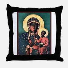Black Madonna Throw Pillow