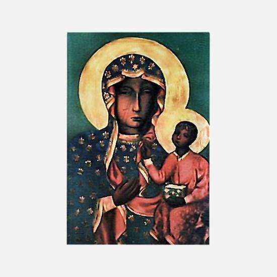 Black Madonna Rectangle Magnet (100 pack)