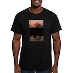 Lion Sands Sunset Men's Fitted T-Shirt (dark)