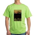 Lion Sands Sunset Green T-Shirt