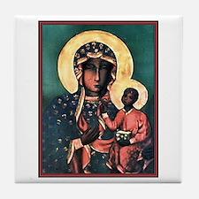 Black Madonna Tile Coaster