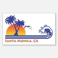 Santa Monica Sticker (Rectangle)