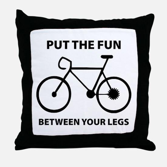 Fun between your legs. Throw Pillow
