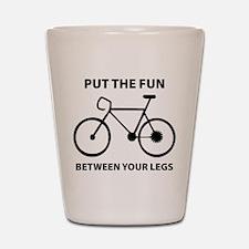 Fun between your legs. Shot Glass