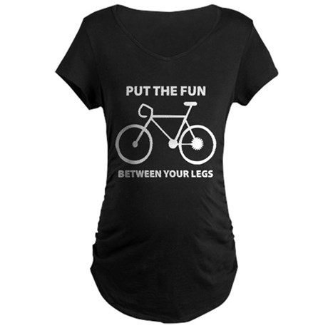 Fun between your legs. Maternity Dark T-Shirt
