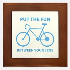 Fun between your legs. Framed Tile