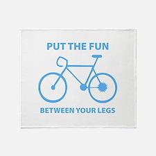 Fun between your legs. Throw Blanket
