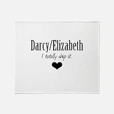 Darcy/Elizabeth Throw Blanket