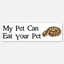 My Pet Can Eat Your Pet Bumper Bumper Sticker