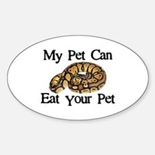 My Pet Can Eat Your Pet Sticker (Oval)