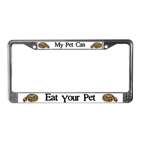 My Pet Can Eat Your Pet License Plate Frame