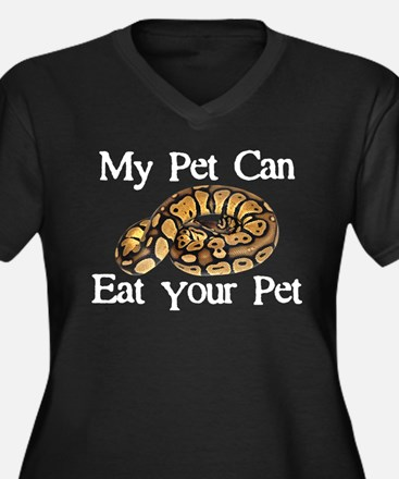 My Pet Can Eat Your Pet Women's Plus Size V-Neck D