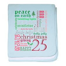 Christmas Words baby blanket
