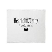 Heathcliff and Cathy Throw Blanket