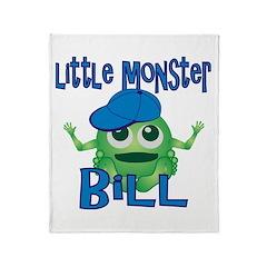 Little Monster Bill Throw Blanket