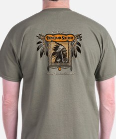 Homeland Security T-Shirt-Back Print
