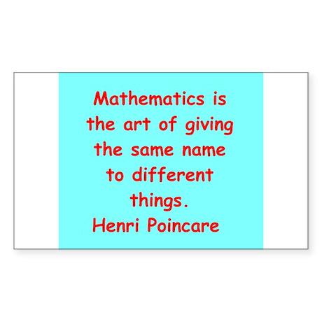 Henri Poincare quote Sticker (Rectangle)