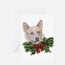 Red Heeler Christmas Greeting Card