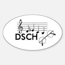 Shostakovich: DSCH Sticker (Oval)