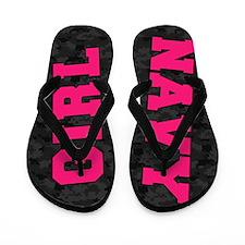 Navy Girl Flip Flops